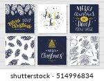 merry christmas invitation set.... | Shutterstock .eps vector #514996834