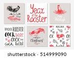merry christmas invitation set.... | Shutterstock .eps vector #514999090