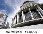 Parliament In Wellington, New Zealand - stock photo