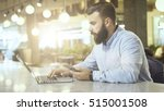 side view of young bearded... | Shutterstock . vector #515001508