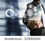 businessman with financial... | Shutterstock . vector #515002654