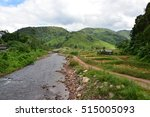 River Stream At Nan Province ...