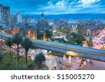 night view of the botero square ... | Shutterstock . vector #515005270