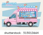 side view of ice cream van.... | Shutterstock .eps vector #515013664