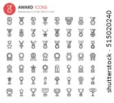 award icons   thin line and... | Shutterstock .eps vector #515020240