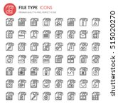 file type icons   thin line and ...