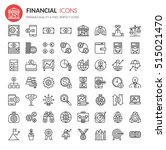 financial icons   thin line and ... | Shutterstock .eps vector #515021470