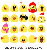 emotions. a large set of... | Shutterstock .eps vector #515022190