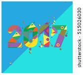 happy new year 2017 background. ... | Shutterstock .eps vector #515026030