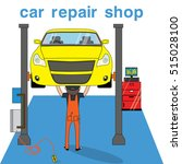 mechanic standing for repair... | Shutterstock .eps vector #515028100