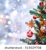 christmas tree background and... | Shutterstock . vector #515029708