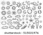 weather symbols | Shutterstock .eps vector #515031976