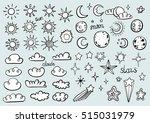 weather symbols | Shutterstock .eps vector #515031979