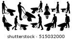 people with wheelbarrow... | Shutterstock .eps vector #515032000