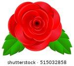 rose flower in top view vector... | Shutterstock .eps vector #515032858