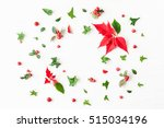 Christmas Poinsettia. Frame...