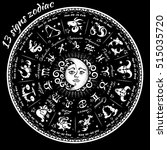 13 signs of the zodiac...   Shutterstock .eps vector #515035720