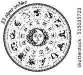 13 signs of the zodiac... | Shutterstock .eps vector #515035723