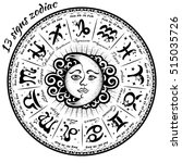 13 signs of the zodiac... | Shutterstock .eps vector #515035726