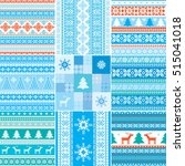 set of christmas and new year... | Shutterstock .eps vector #515041018