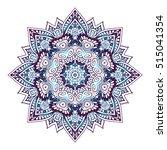 decorative arabic round lace... | Shutterstock .eps vector #515041354