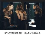 pretty fashion model on... | Shutterstock . vector #515043616