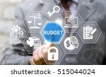 businessman touched budget word ... | Shutterstock . vector #515044024