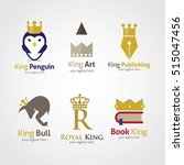 set of king design logo... | Shutterstock .eps vector #515047456