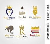 set of king design logo... | Shutterstock .eps vector #515047456