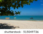 sea shore in the summer. boats... | Shutterstock . vector #515049736