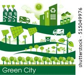 green eco city living concept. | Shutterstock .eps vector #515049976