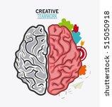 brain of creative teamwork... | Shutterstock .eps vector #515050918