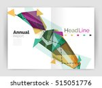 triangle abstract background.... | Shutterstock . vector #515051776