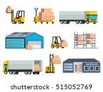 warehouse logistics elements... | Shutterstock .eps vector #515052769