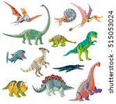 jurassic period animals set... | Shutterstock .eps vector #515053024