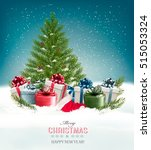 christmas background with a... | Shutterstock .eps vector #515053324