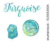 december birthstone turquoise... | Shutterstock . vector #515053504