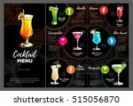 cocktail menu design | Shutterstock .eps vector #515056870