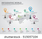 infographic world destination... | Shutterstock .eps vector #515057104