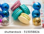 tasty macaroons  in the box.... | Shutterstock . vector #515058826