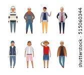 fashion for boy vector... | Shutterstock .eps vector #515060344