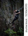extreme sport climbing. rock...   Shutterstock . vector #515069593