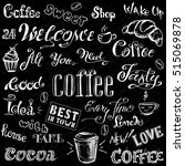 coffee and cocoa   lettering... | Shutterstock .eps vector #515069878