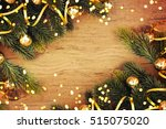 christmas wooden background | Shutterstock . vector #515075020