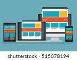computer responsive concept... | Shutterstock .eps vector #515078194