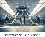 escalator in modern building.... | Shutterstock . vector #515080444