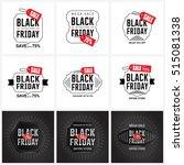 black friday sale label set | Shutterstock .eps vector #515081338