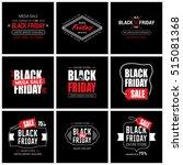 black friday sale label set | Shutterstock .eps vector #515081368