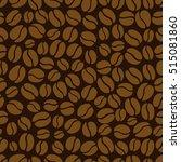 coffee bean seamless pattern   Shutterstock .eps vector #515081860