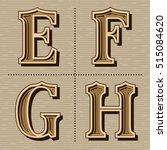 western alphabet design letters ... | Shutterstock .eps vector #515084620